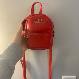 Guess over the shoulder mini backpack